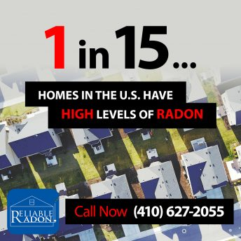1 in 15 homes have high levels of radon